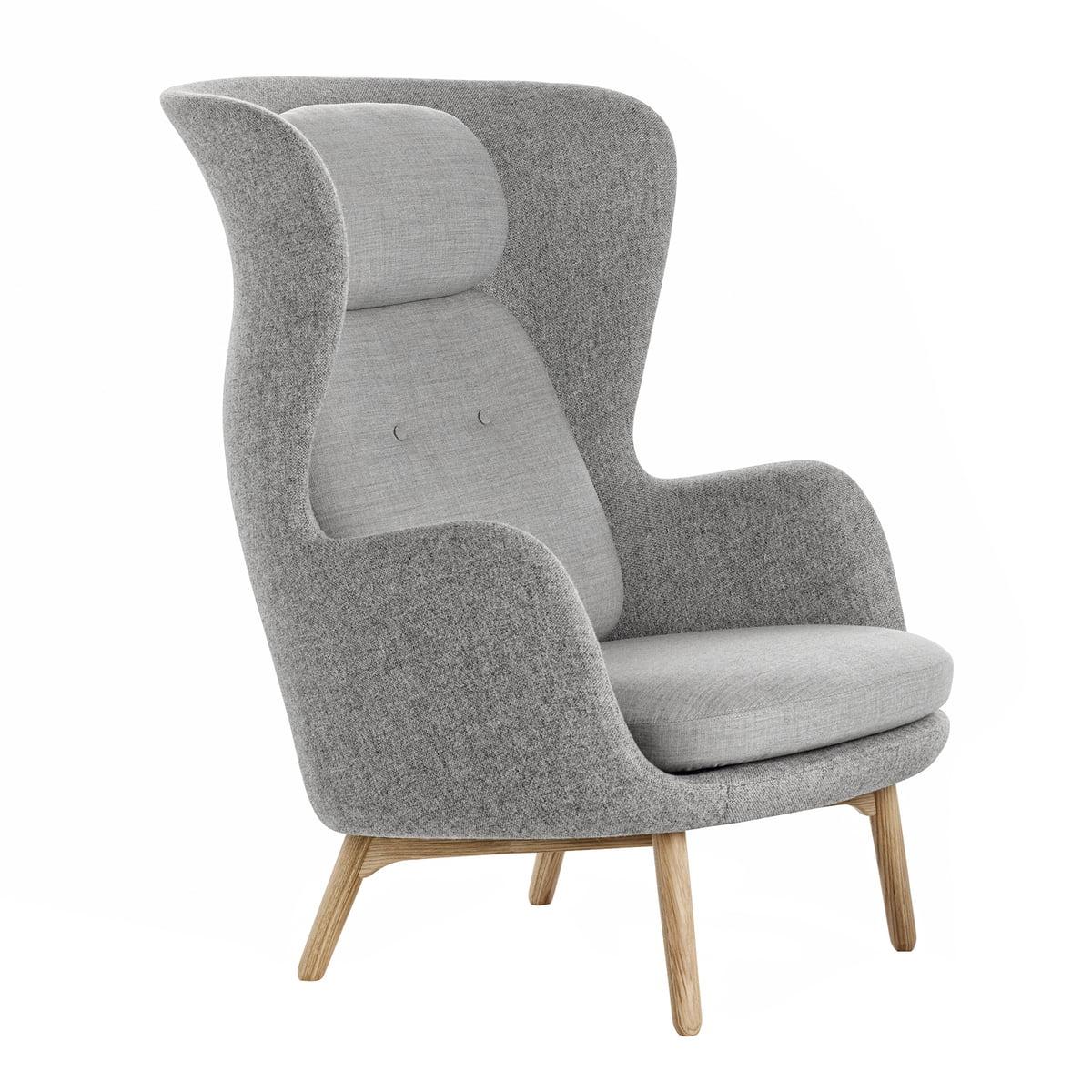 fritz hansen ro sessel designer selection eiche hellgrau hallingdal 130 canvas 124. Black Bedroom Furniture Sets. Home Design Ideas