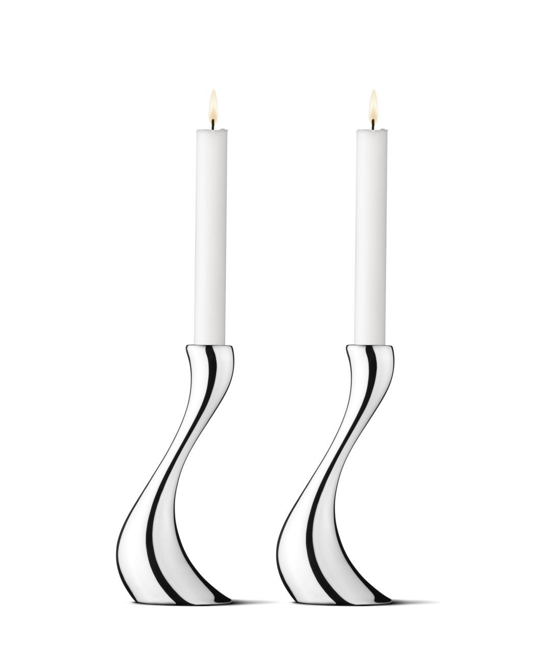 georg jensen cobra kerzenhalter mittel set online kaufen bei woonio. Black Bedroom Furniture Sets. Home Design Ideas
