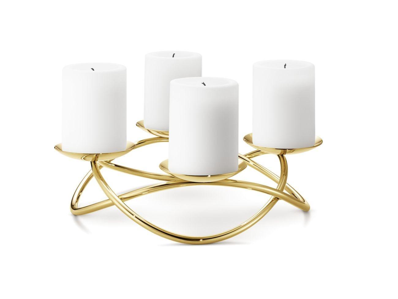 georg jensen season kerzenhalter gro mit goldauflage online kaufen bei woonio. Black Bedroom Furniture Sets. Home Design Ideas