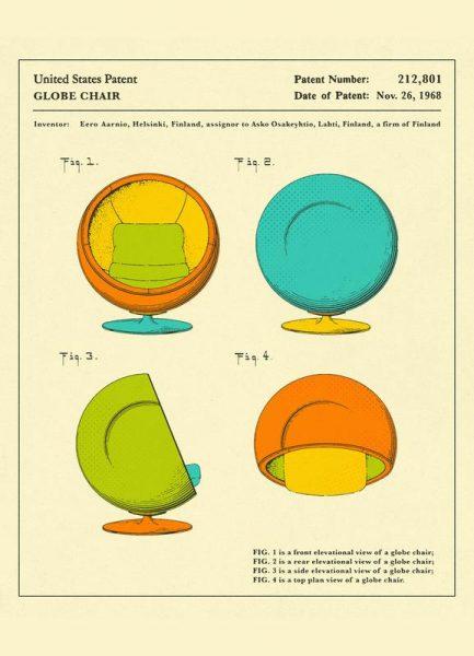 Globe Chair Leinwandbild