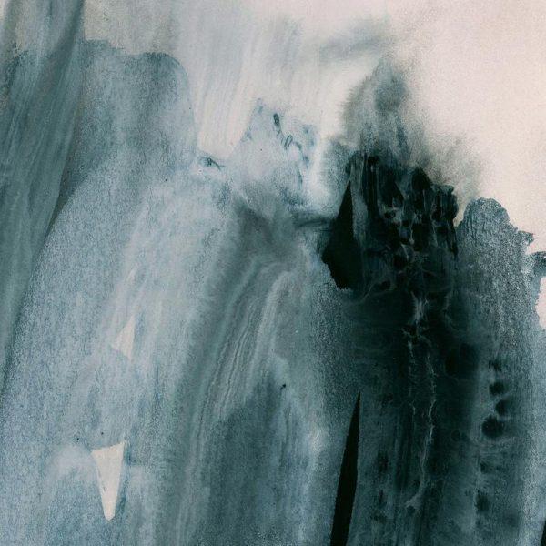 Greyish Brushstrokes Leinwandbild