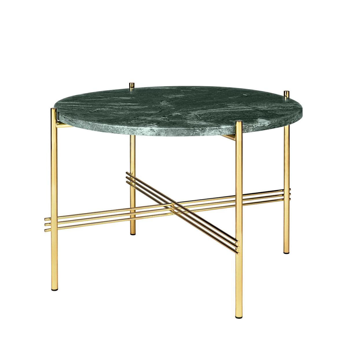gubi ts couchtisch 55 cm messing marmor gr n gr n h. Black Bedroom Furniture Sets. Home Design Ideas