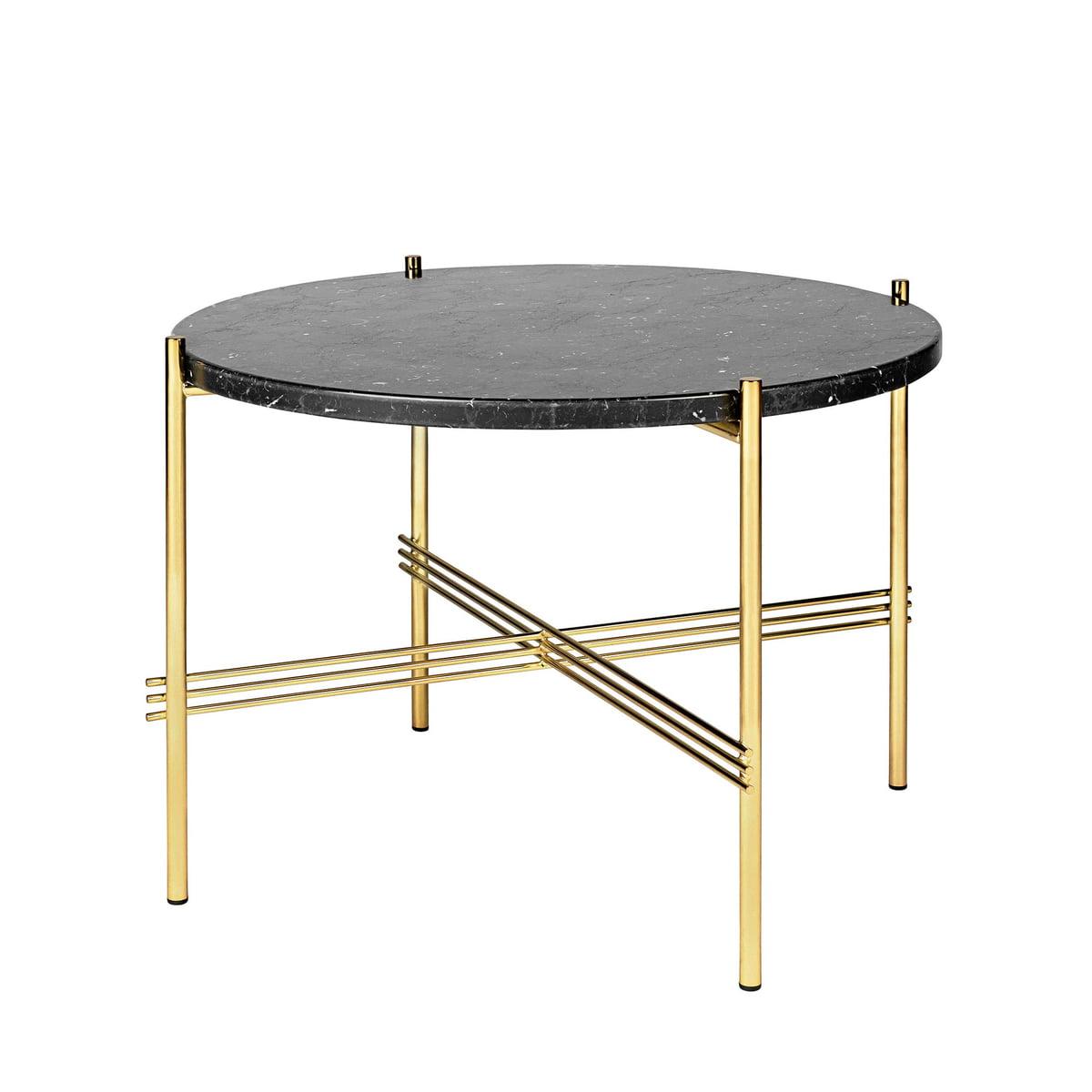 gubi ts couchtisch 55 cm messing marmor schwarz. Black Bedroom Furniture Sets. Home Design Ideas