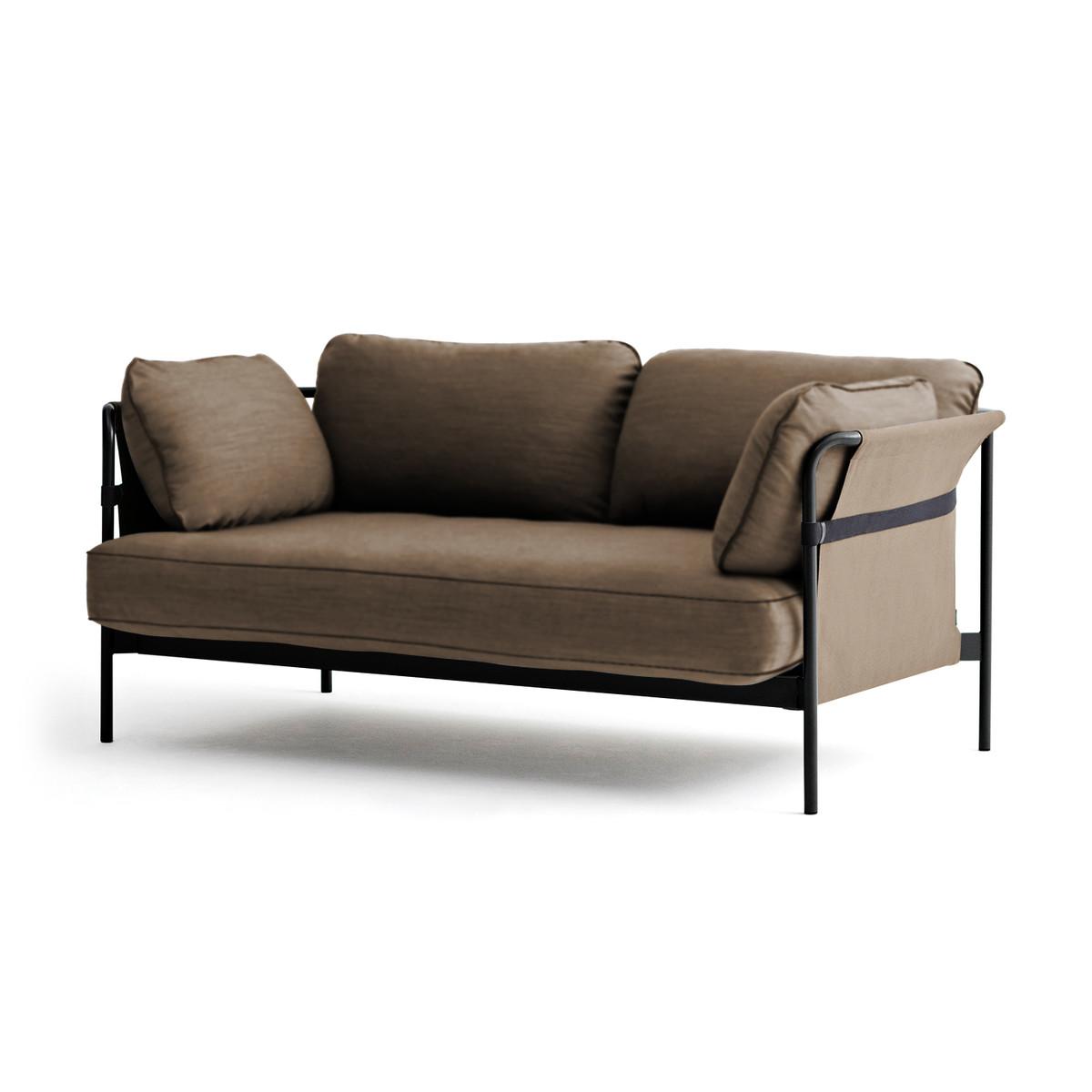 hay can sofa 2 sitzer schwarz canvas army eu braun t 89 h 82 b 172 online kaufen bei woonio. Black Bedroom Furniture Sets. Home Design Ideas