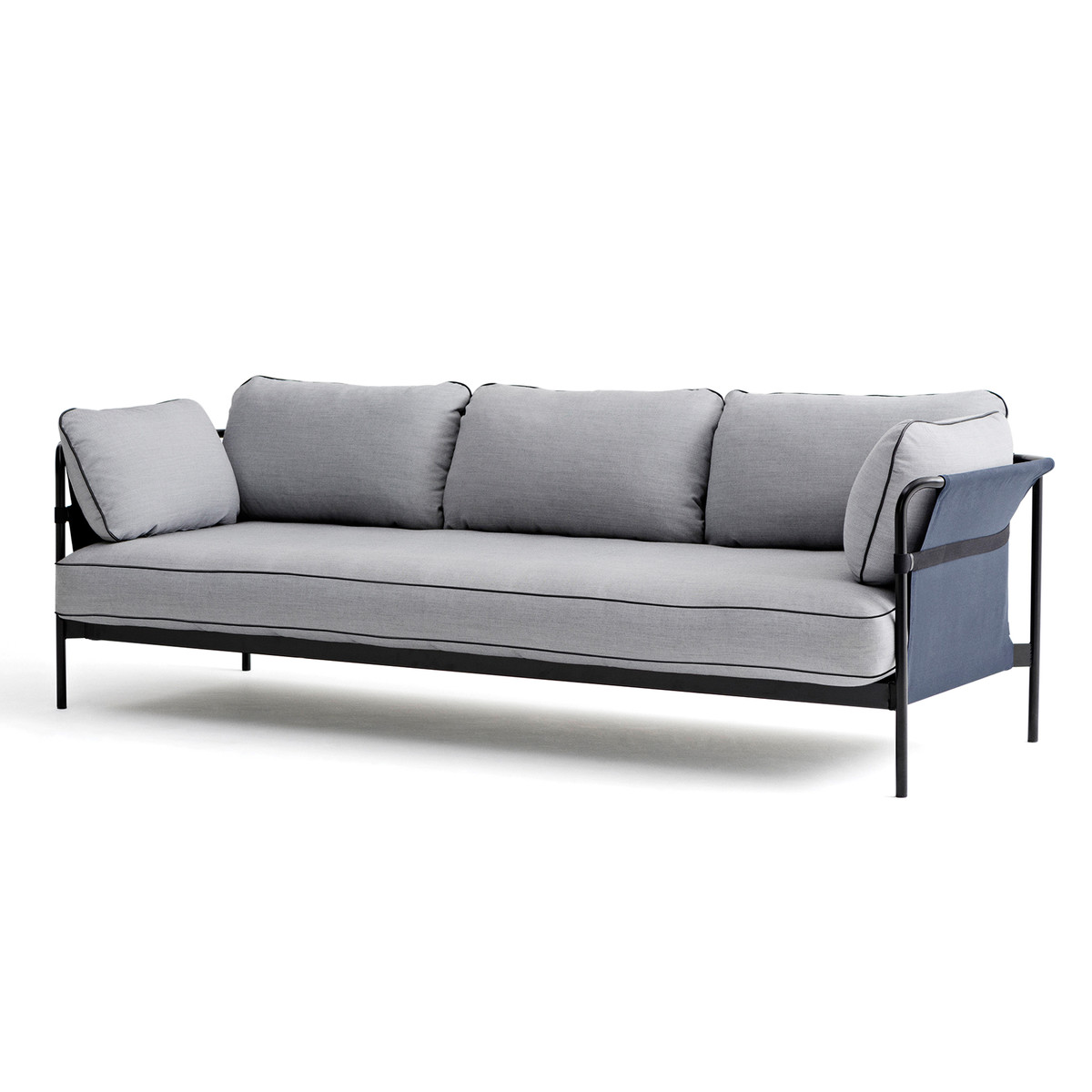 hay can sofa 3 sitzer schwarz canvas blau surface. Black Bedroom Furniture Sets. Home Design Ideas