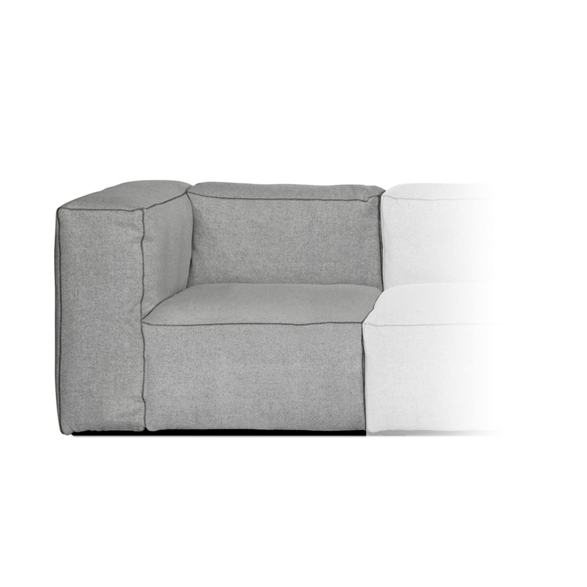 hay mags soft narrow module armlehne links art s1062 hallingdal 130 n hte dunkelgrau. Black Bedroom Furniture Sets. Home Design Ideas