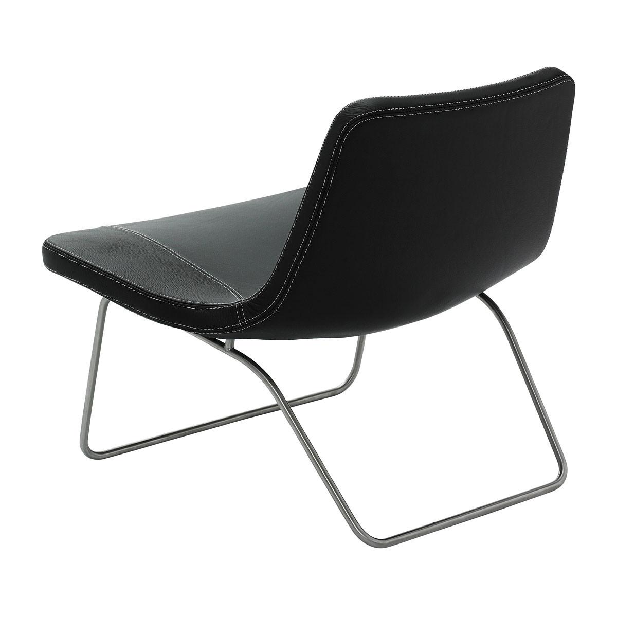 hay ray lounge chair edelstahl leder schwarz schwarz. Black Bedroom Furniture Sets. Home Design Ideas