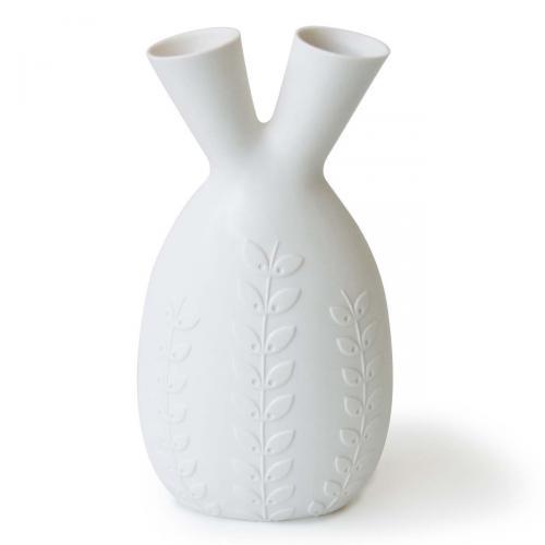 Heart Vase weiss von Jonathan Adlerweiss