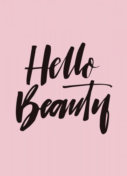 Hello Beauty Leinwandbild