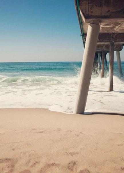 Hermosa Beach Pier Leinwandbild