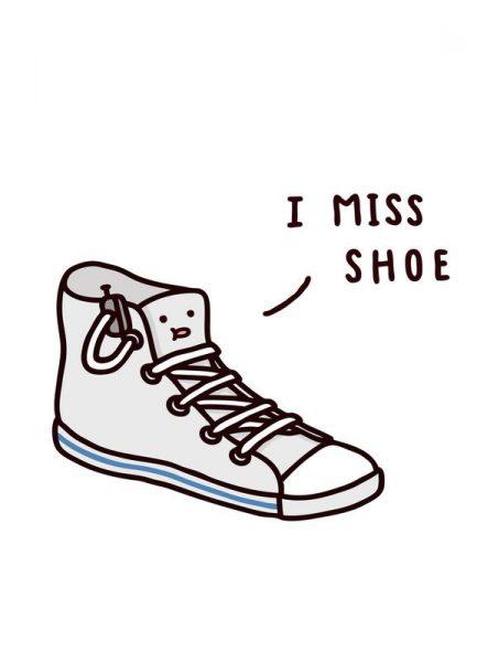 I Miss Shoe Leinwandbild