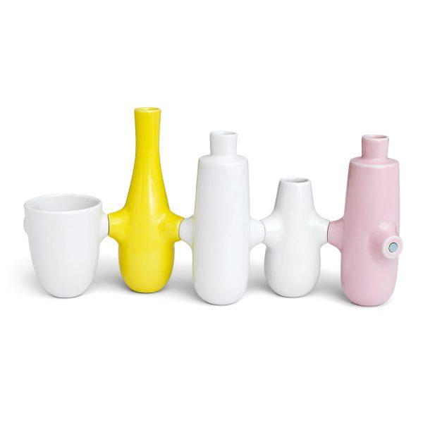 Kähler Design - Fiducia Kerzenständer / Vasen (5er-Set)MehrfarbigH:21 B:45