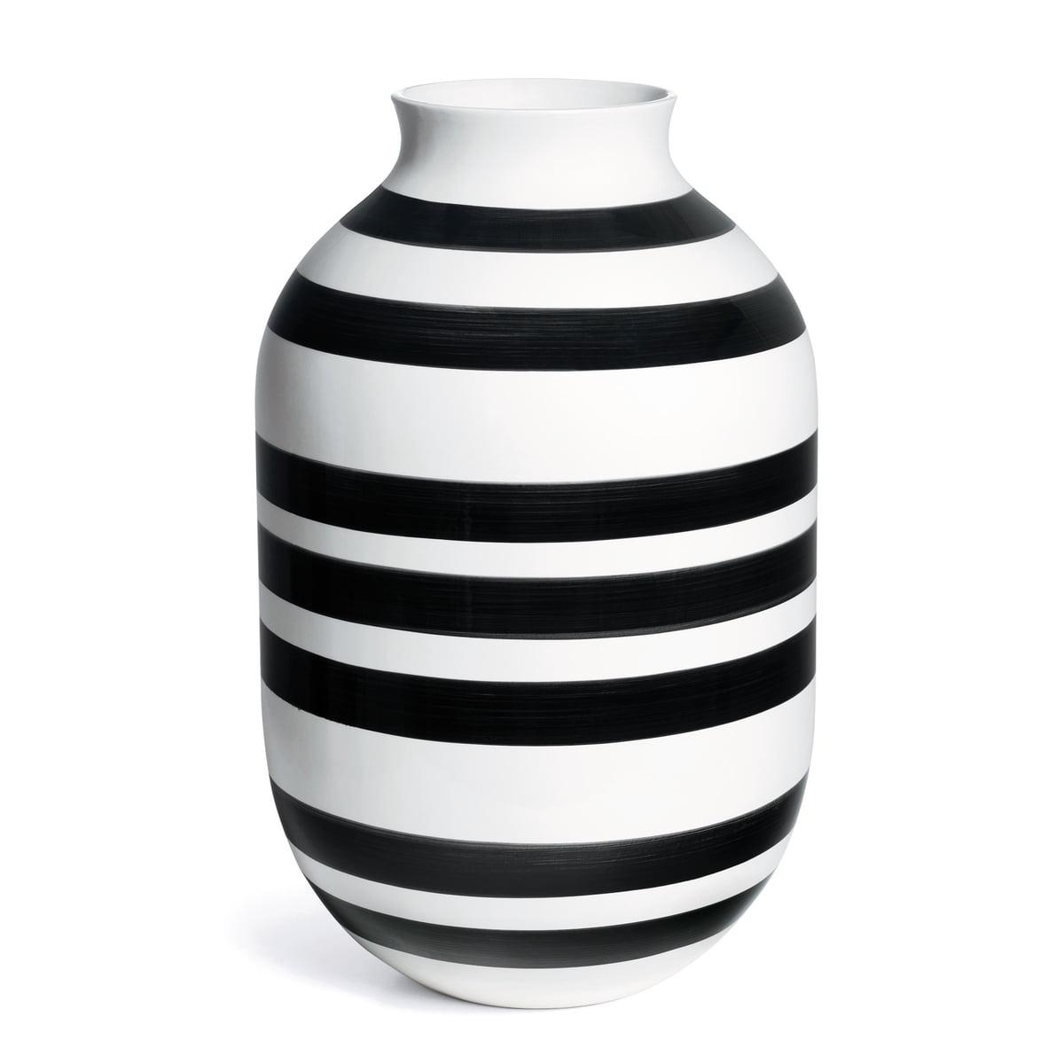 k hler design omaggio vase h 50 cm schwarz wei schwarz wei h 50 online kaufen bei woonio. Black Bedroom Furniture Sets. Home Design Ideas