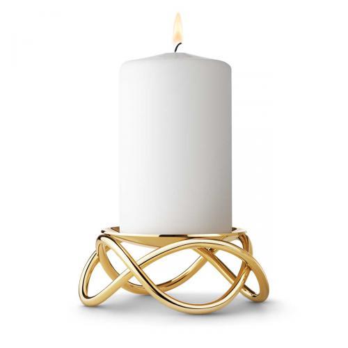 Kerzenständer Glow Gold groß von Georg Jensengold