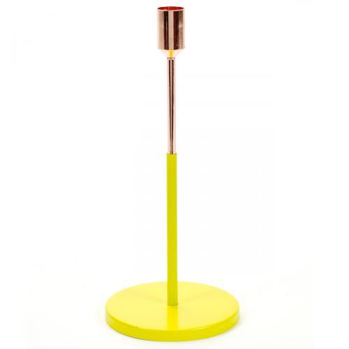 Kerzenständer Kupferfarben/Gelb