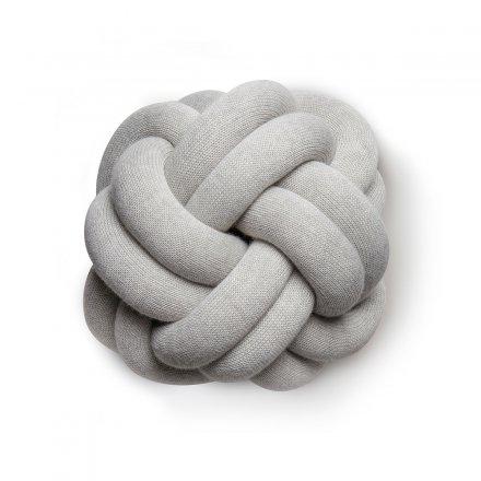 Kissen Knot hellgrau  50% Baumwolle/50% Polyacryl