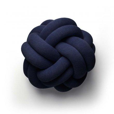 Kissen Knot navy-blau navy-blau blau 50% Baumwolle/50% Polyacryl