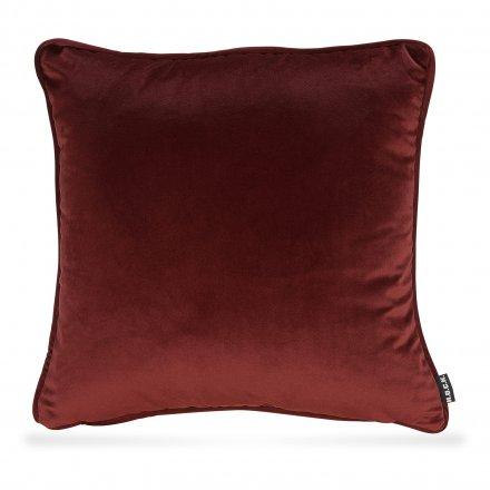 kissen nobile samt 50x50 cm rot rot polyester baumwolle samt online kaufen bei woonio. Black Bedroom Furniture Sets. Home Design Ideas