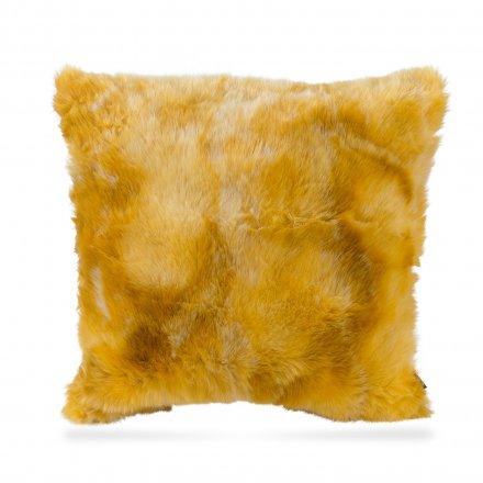 Kissen Volpina Plush 48x48cm gelb gelb Polyester