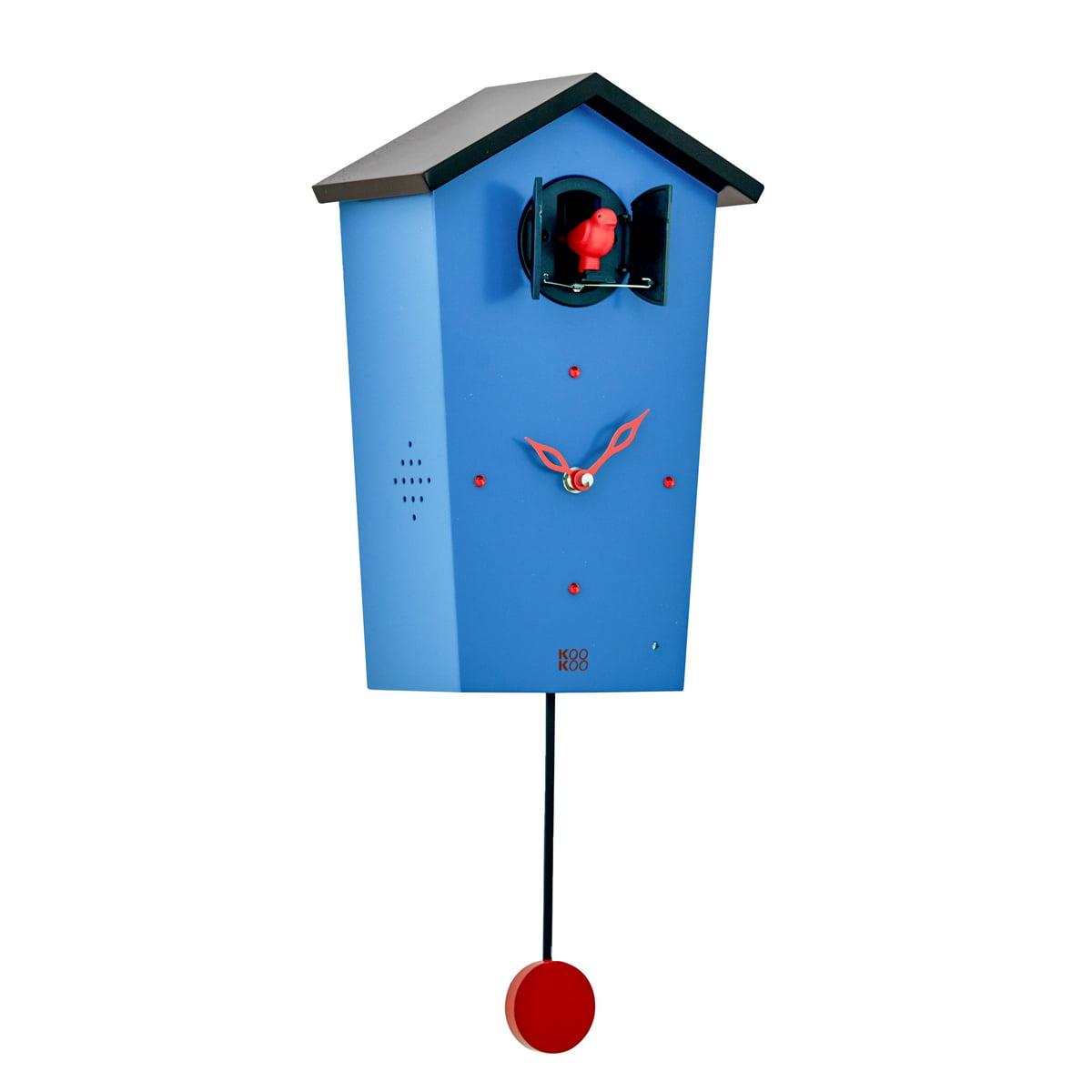 kookoo bird house kuckucksuhr blau limited edition blau h 27 b 17 online kaufen bei woonio. Black Bedroom Furniture Sets. Home Design Ideas