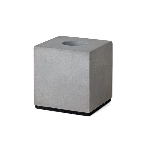 Korn Produkte - Block Kerzenhalter für StabkerzenBetongrauT:6 H:6 B:6
