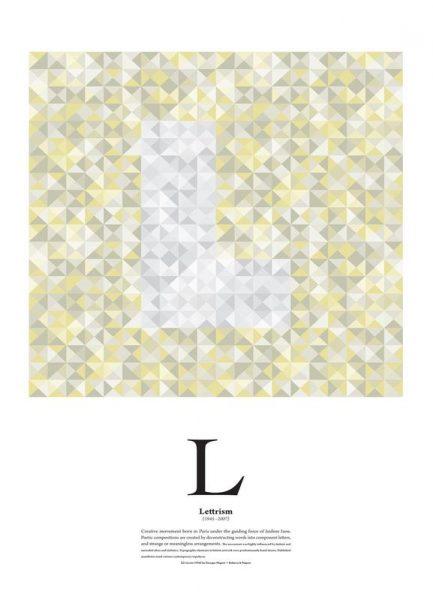 L Lettrism Leinwandbild