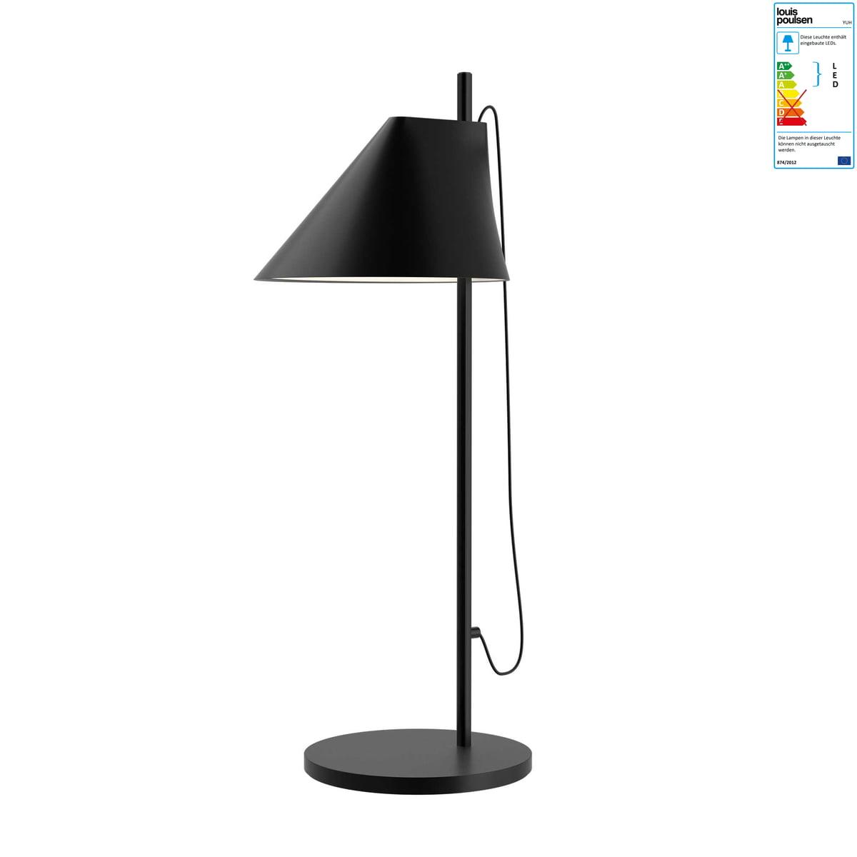 louis poulsen yuh tischleuchte led schwarz schwarz t 26 h 70 b 31 online kaufen bei woonio. Black Bedroom Furniture Sets. Home Design Ideas
