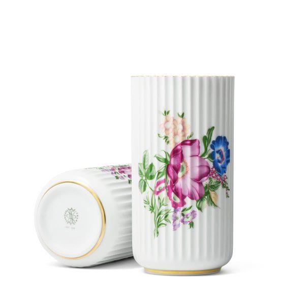 Lyngby Porcelæn - Lyngbyvase mit Blumendekor