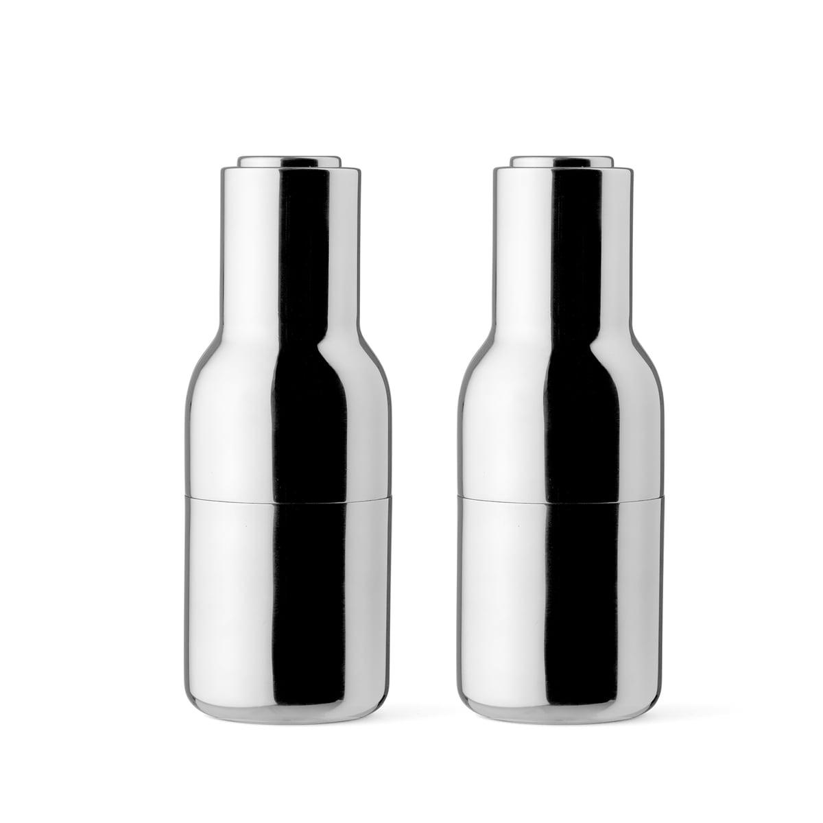 menu bottle salz und pfefferm hle edelstahl poliert. Black Bedroom Furniture Sets. Home Design Ideas