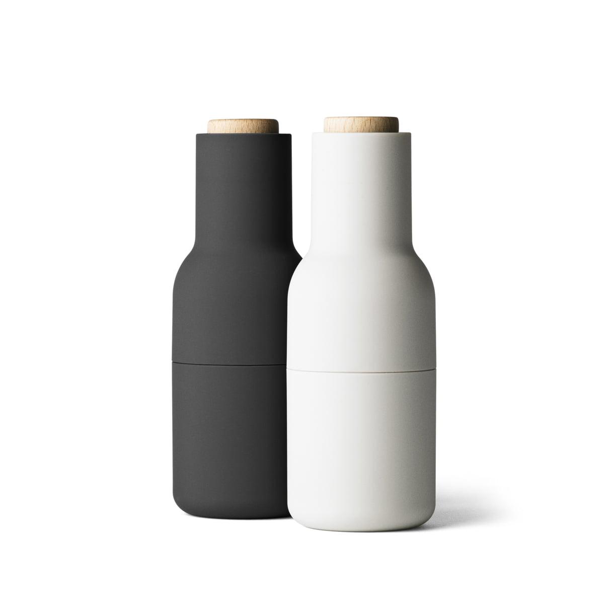 menu bottle salz und pfefferm hlen set ash carbon. Black Bedroom Furniture Sets. Home Design Ideas