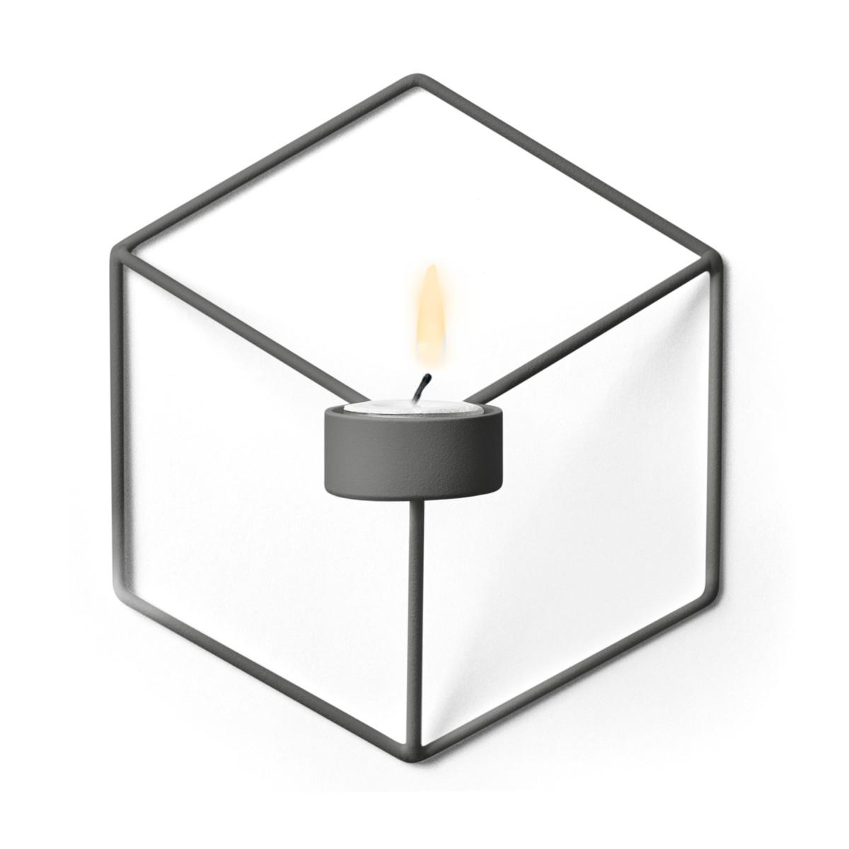 menu pov wand teelichthalter warm grey wei t 10 h 21 b. Black Bedroom Furniture Sets. Home Design Ideas
