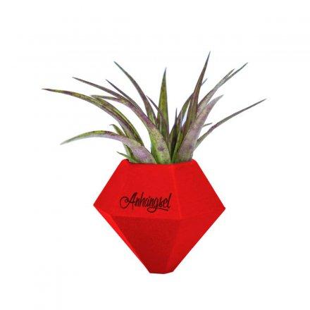 Minivase BØK mit Magnetbefestigung rot türkis Polyamid