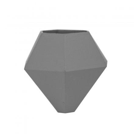 Minivase BØK mit Saugnapf grau grau Polyamid