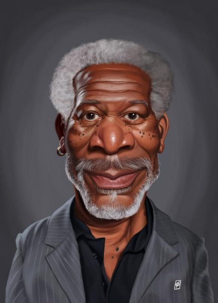 Morgan Freeman Leinwandbild