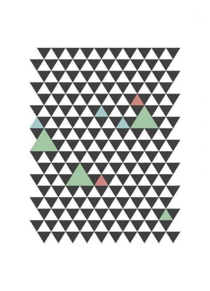 Nordic Pattern Leinwandbild