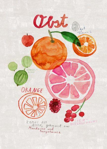 Obst Leinwandbild