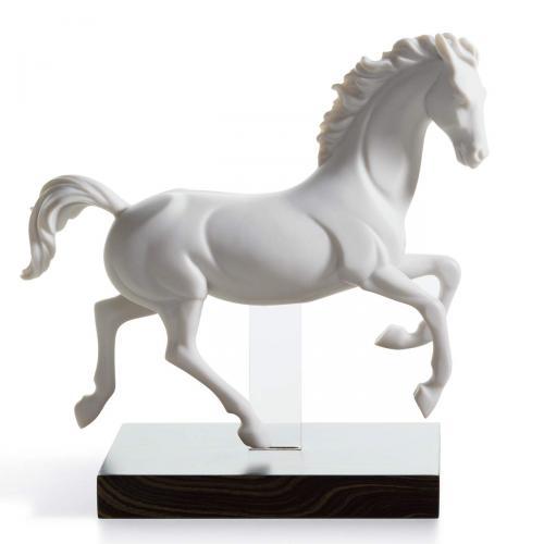 Pferde Skulptur Galopp IIweiss