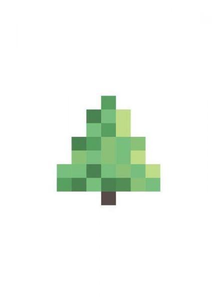 Pixel Tree Leinwandbild
