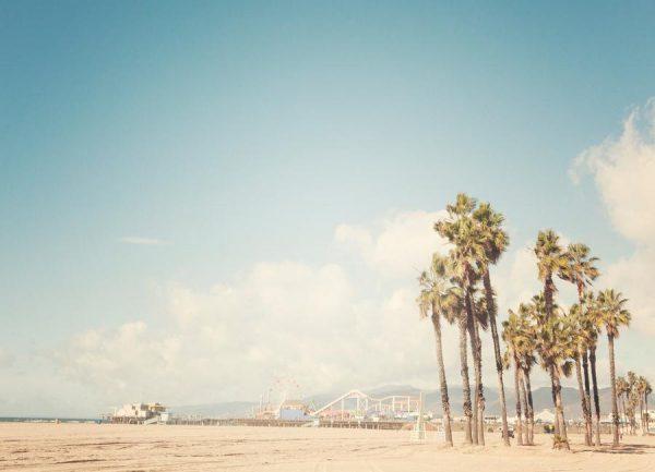 Santa Monica Leinwandbild