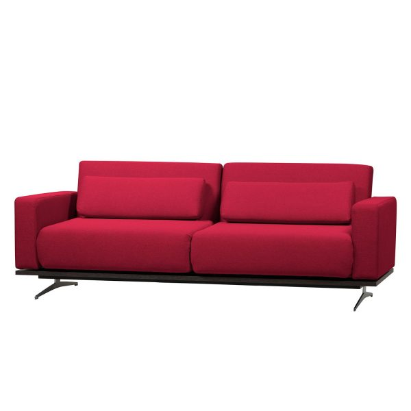 Schlafsofa Copperfield I Webstoff - Stoff Zahira Rot