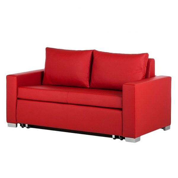 Schlafsofa Latina XIV Kunstleder - Rot - 190 cm