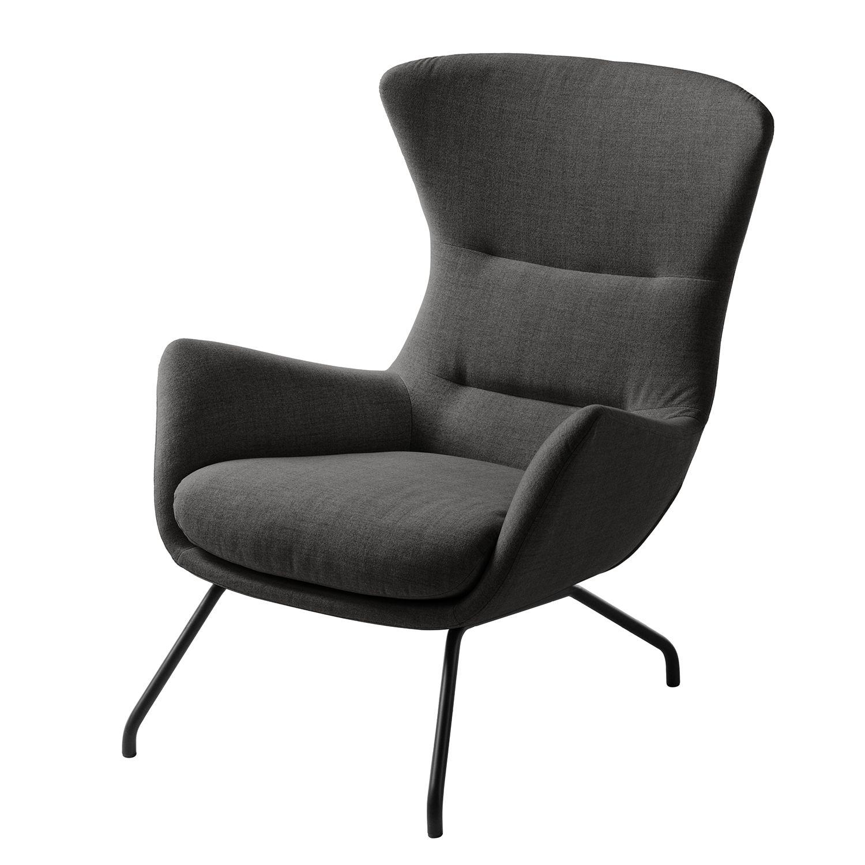 sessel hepburn ii schwarz stoff milan anthrazit. Black Bedroom Furniture Sets. Home Design Ideas