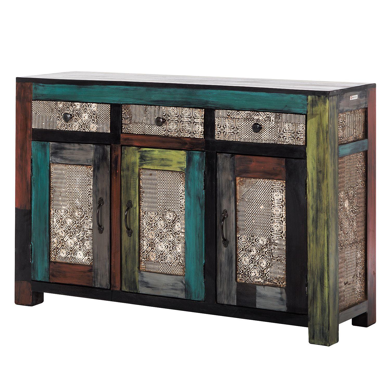 Sideboard Goa I   Akazie / Mango teilmassiv   Mehrfarbig, Wolf Möbel online kaufen bei WOONIO