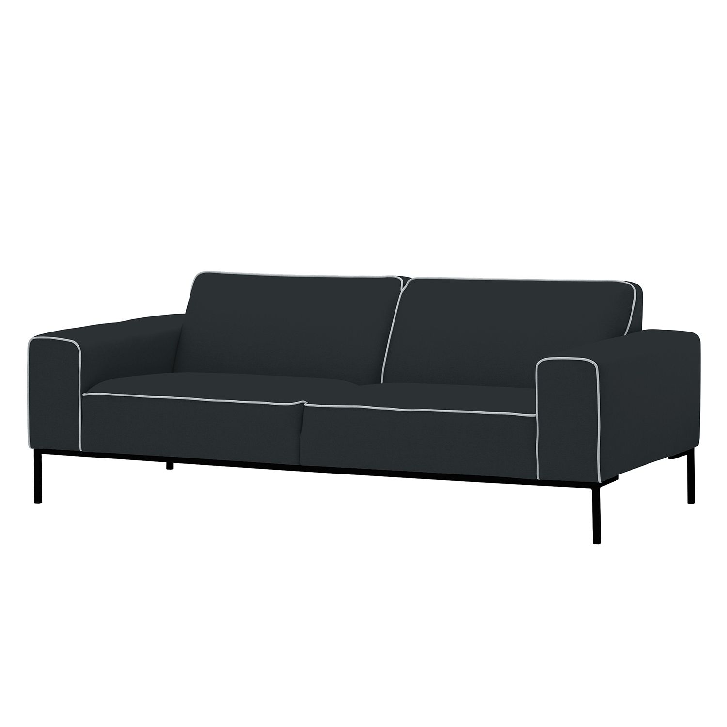 sofa ampio duo 3 sitzer webstoff schwarz stoff floreana anthrazit studio copenhagen. Black Bedroom Furniture Sets. Home Design Ideas