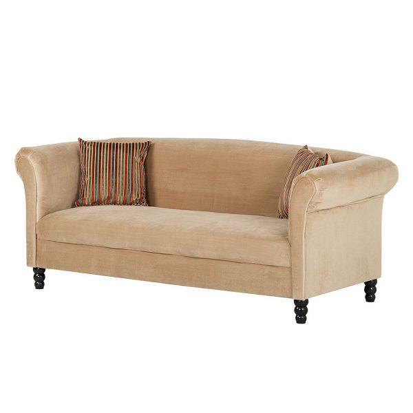 Sofa Aviva (3-Sitzer) - Samt Beige