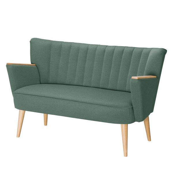 Sofa Bauro (2-Sitzer) Webstoff - Mintgrau