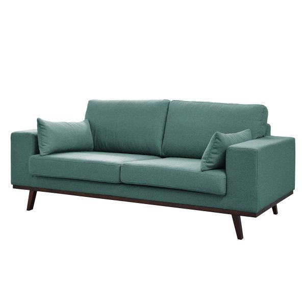 Sofa Billund (2-Sitzer) Webstoff - Petrolgrau