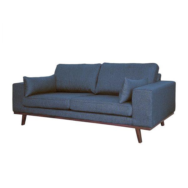 Sofa Billund I (2-Sitzer) Strukturstoff - Jeansblau
