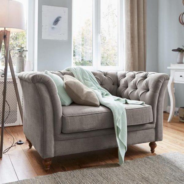 Sofa Clères grau H/B/T ca. 74/125/83 cm