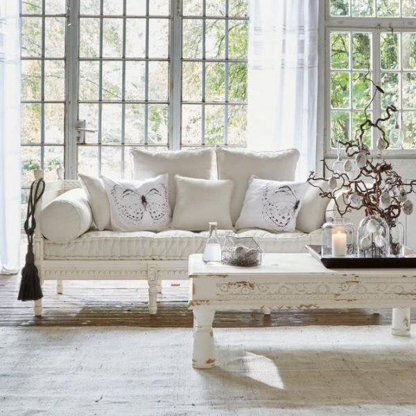 Sofa Douville antikweiß H/B/T ca. 85/200/80 cm